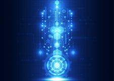 Διανυσματική αφηρημένη μελλοντική τεχνολογία εφαρμοσμένης μηχανικής, ηλεκτρικό υπόβαθρο τηλεπικοινωνιών Στοκ εικόνες με δικαίωμα ελεύθερης χρήσης