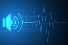 Διανυσματική αφηρημένη υγιής έννοια τεχνολογίας υποβάθρου Στοκ Εικόνες