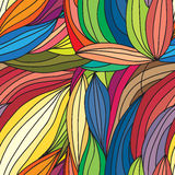Διανυσματική αφηρημένη hand-drawn σύσταση κυμάτων, κυματιστό υπόβαθρο Χρώμα Στοκ Εικόνες