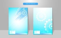 Διανυσματική αφηρημένη sci προτύπων σχεδίου κάλυψης έννοια καινοτομίας εργασίας μηχανών FI Στοκ φωτογραφία με δικαίωμα ελεύθερης χρήσης