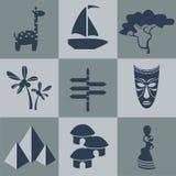 Διανυσματική Αφρική οριζόντια μαύρη Στοκ εικόνες με δικαίωμα ελεύθερης χρήσης