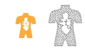 Διανυσματική 2$α ανθρώπινη ανατομία πλέγματος και επίπεδο εικονίδιο απεικόνιση αποθεμάτων
