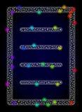 Διανυσματική 2$α σελίδα κειμένων πλέγματος με χρωματισμένα τα ουράνιο τόξο καμμένος σημεία απεικόνιση αποθεμάτων