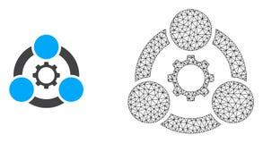 Διανυσματική βιομηχανική συνεργασία πλέγματος πλαισίων καλωδίων και  απεικόνιση αποθεμάτων