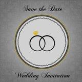 Διανυσματική γαμήλια πρόσκληση Στοκ εικόνες με δικαίωμα ελεύθερης χρήσης
