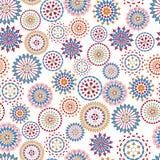 Διανυσματική διακόσμηση με τους κύκλους διανυσματική απεικόνιση