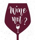 Διανυσματική εγγραφή κρασιού μη Στοκ Εικόνες