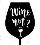Διανυσματική εγγραφή κρασιού μη Στοκ Εικόνα