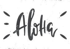 Διανυσματική εγγραφή aloha Στοκ φωτογραφίες με δικαίωμα ελεύθερης χρήσης