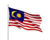 Διανυσματική εθνική σημαία της Μαλαισίας Στοκ Εικόνες