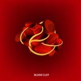 Διανυσματική εικόνα αίματος Στοκ φωτογραφία με δικαίωμα ελεύθερης χρήσης