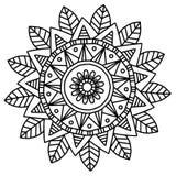 Διανυσματική εικόνα για την ενήλικη χρωματίζοντας απεικόνιση Mandala Doodle βιβλίων Στοκ Εικόνες