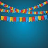 Διανυσματική εικόνα εμβλημάτων σημαιών φεστιβάλ Διανυσματική απεικόνιση