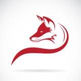 Διανυσματική εικόνα ενός κεφαλιού αλεπούδων διανυσματική απεικόνιση