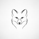 Διανυσματική εικόνα ενός σχεδίου αλεπούδων σε ένα άσπρο υπόβαθρο Στοκ φωτογραφίες με δικαίωμα ελεύθερης χρήσης
