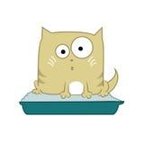Γάτα στην τουαλέτα Στοκ εικόνα με δικαίωμα ελεύθερης χρήσης