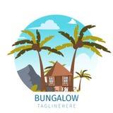 Διανυσματική εικόνα σχεδίων το τοποθετημένο μπανγκαλόου νησί διανυσματική απεικόνιση