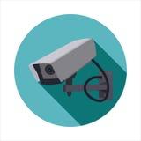 Διανυσματική εικόνα του CCTV στοκ εικόνες