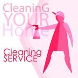 Διανυσματική εικόνα των γυναικών Καθαρότητα, καθαρισμός Ελεύθερη απεικόνιση δικαιώματος