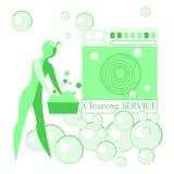 Διανυσματική εικόνα των γυναικών Καθαρότητα, καθαρισμός Διανυσματική απεικόνιση