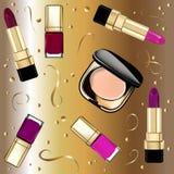 Διανυσματική εικόνα των μοντέρνων θηλυκών καλλυντικών ελεύθερη απεικόνιση δικαιώματος
