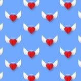 Διανυσματική εικόνα υποβάθρου καρδιών αγγέλου ημέρας βαλεντίνων Στοκ Φωτογραφίες