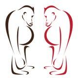 Διανυσματική εικόνα orangutan διανυσματική απεικόνιση