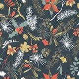 Διανυσματική εκλεκτής ποιότητας φυσική ευχετήρια κάρτα watercolor με το anemone ελεύθερη απεικόνιση δικαιώματος