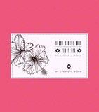 Διανυσματική εκλεκτής ποιότητας κάρτα με hibiscus το λουλούδι Στοκ εικόνες με δικαίωμα ελεύθερης χρήσης