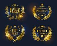 Διανυσματική εκλεκτής ποιότητας καλύτερη επιλογή συλλογής διακριτικών Στοκ φωτογραφίες με δικαίωμα ελεύθερης χρήσης