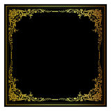Διανυσματική εκλεκτής ποιότητας χάραξη πλαισίων συνόρων με την αναδρομική διανυσματική απεικόνιση διακοσμήσεων Στοκ Εικόνες
