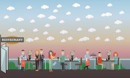 Διανυσματική επίπεδη απεικόνιση έννοιας ανθρώπων και σχέσεων απεικόνιση αποθεμάτων