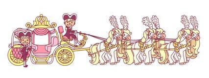 Διανυσματική επίπεδη μεταφορά Cinderella απεικόνιση αποθεμάτων