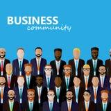 Διανυσματική επίπεδη απεικόνιση της κοινότητας επιχειρήσεων ή πολιτικής Στοκ φωτογραφία με δικαίωμα ελεύθερης χρήσης