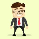 Διανυσματική επίπεδη απεικόνιση Χαμόγελο επιχειρηματιών ή διευθυντών Στοκ Εικόνα