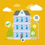 Διανυσματική επίπεδη απεικόνιση Infographic σπιτιών Στοκ φωτογραφίες με δικαίωμα ελεύθερης χρήσης