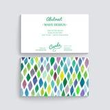 Διανυσματική επαγγελματική κάρτα με τη σύσταση watercolor Προσκλήσεις ή ANN Στοκ φωτογραφία με δικαίωμα ελεύθερης χρήσης