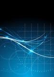 Διανυσματική επιστήμη στοιχείων επικοινωνίας τεχνολογίας υποβάθρου αφηρημένη Στοκ Φωτογραφίες