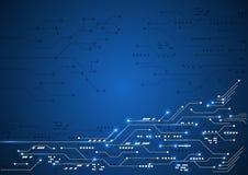 Διανυσματική επιστήμη στοιχείων επικοινωνίας τεχνολογίας υποβάθρου αφηρημένη Στοκ Εικόνες