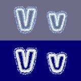 Διανυσματική επιστολή Β στο γκρίζο και μπλε υπόβαθρο στοκ φωτογραφίες