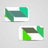 Επιχείρηση-κάρτα που τίθεται διανυσματική για το σχέδιό σας Στοκ Εικόνα