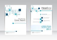 Διανυσματική επιχείρηση τεχνολογίας σχεδιασμού για την αφίσα ιπτάμενων φυλλάδιων εκθέσεων κάλυψης A4 στο μέγεθος διανυσματική απεικόνιση