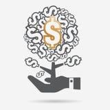Διανυσματική επιχειρησιακή έννοια - η αύξηση της επιχείρησης και της χρηματοδότησης Απεικόνιση αποθεμάτων