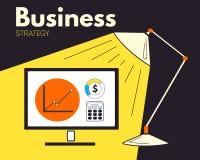 Διανυσματική επιχειρησιακή στρατηγική Στοκ Εικόνες