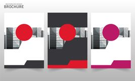 Διανυσματική ετήσια έκθεση Flayers προτύπων σχεδίου φυλλάδιων Στοκ Φωτογραφίες