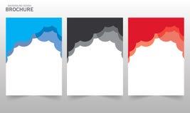 Διανυσματική ετήσια έκθεση Flayers προτύπων σχεδίου φυλλάδιων Στοκ Εικόνες