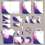 Διανυσματική εταιρική ταυτότητα, σχέδιο σχεδίων τριγώνων, γεωμετρικό Στοκ Φωτογραφία