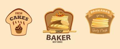 Διανυσματική ετικέτα ψωμιού διανυσματική απεικόνιση