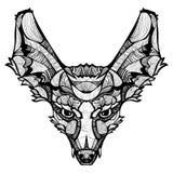 Διανυσματική ευτυχής αλεπού Zentangle Στοκ φωτογραφία με δικαίωμα ελεύθερης χρήσης