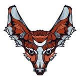 Διανυσματική ευτυχής αλεπού Zentangle Στοκ Εικόνες